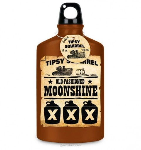 Botella rstica Moonshine